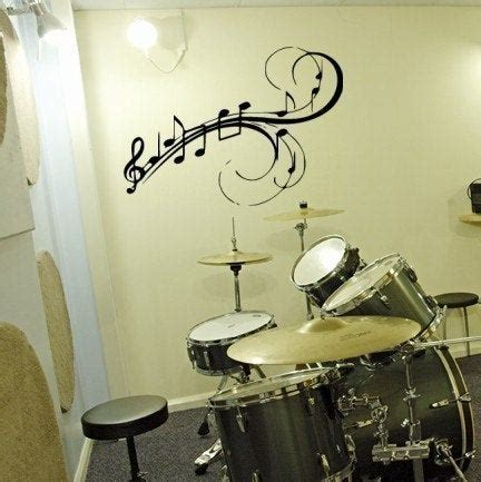 Note Wall Decor - to my walls musical notes vinyl wall decal by