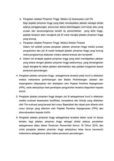 Kementerian Pendayagunaan Aparatur Negara dan Reformasi Birokrasi - Surat Menteri PANRB tentang