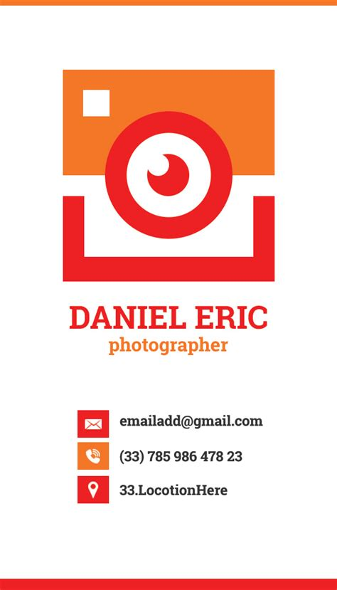 photographer business card freedownloadpsdcom