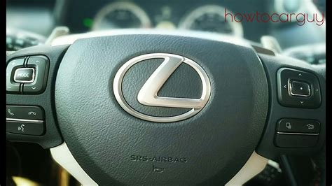 lexus es steering wheel controls review youtube