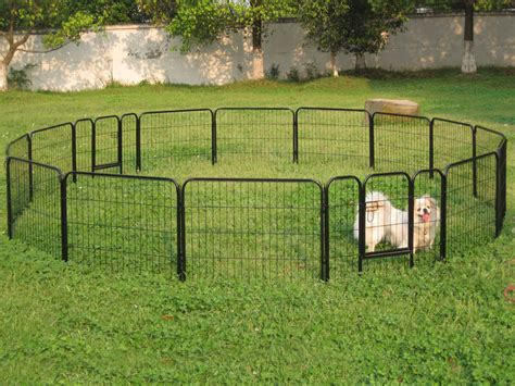 tall  panels metal pet dog puppy cat exercise fence