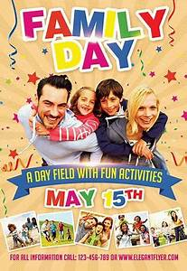 Fun Day Poster Template Family Day Flyer Psd Template By Elegantflyer