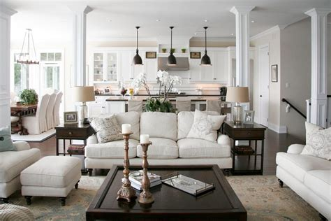 black and white dining room ideas kitchen rug sets living room traditional with open concept