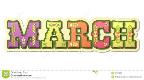 march illustrated   calendar month illustration