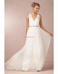 Brautkleid Vintage Schlicht : schlichte bodenlange hochzeitskleider aus chiffon kleid ~ Watch28wear.com Haus und Dekorationen