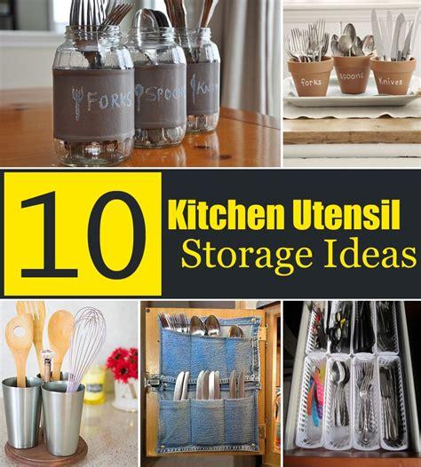 creative kitchen storage ideas 10 creative kitchen utensil storage ideas kitchen 6298