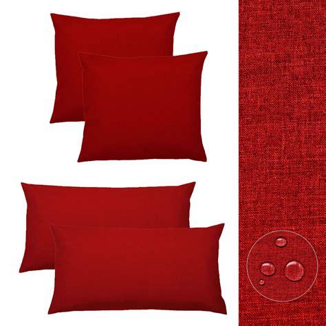 Kissenhüllen 40x40 Rot by Kissenh 252 Lle 2 St Silver Leinen Optik Kissenbezug 40x40