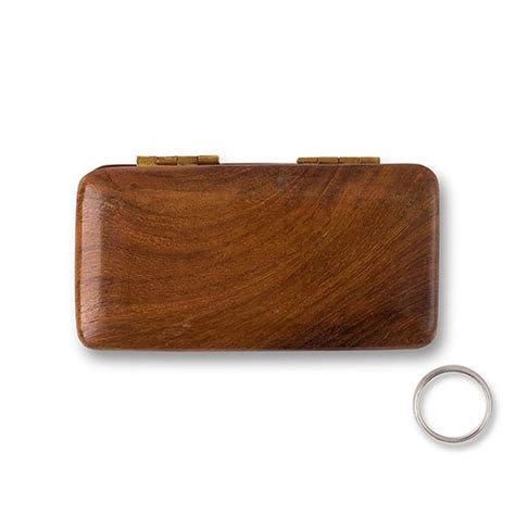 pocket size wooden wedding ring box confetti co uk
