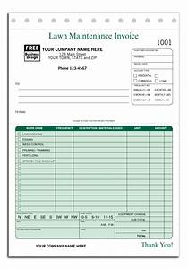 lawn care maintenance invoice proposal work order form With proposal invoice form