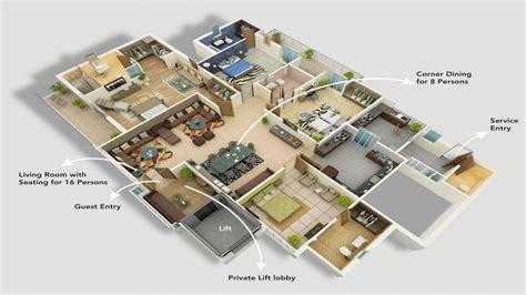Simple 4 Bedroom House Modern 4 Bedroom House Plans