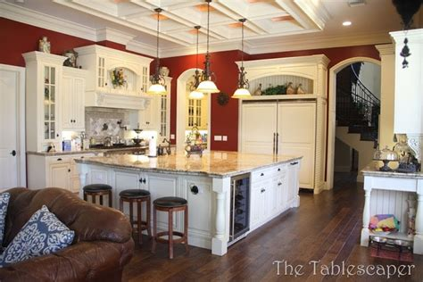 photo  large country kitchens ideas home plans