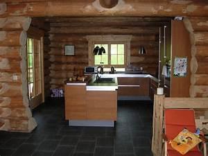photo gallery maison bois rond With maison en bois interieur