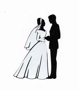Bride And Groom Silhouette Clip Art - Cliparts.co ...