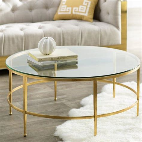 round gold coffee table clara gold coffee table