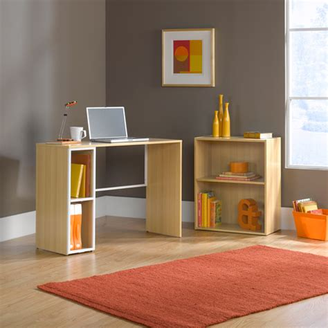 Sauder Edge Water Computer Desk White by Sauder Studio Edge Treble Desk And Bookcase Value Bundle