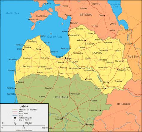 Latvia Map And Satellite Image