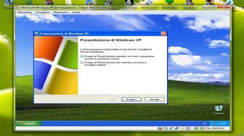 installazione windows xp su virtualbox youtube