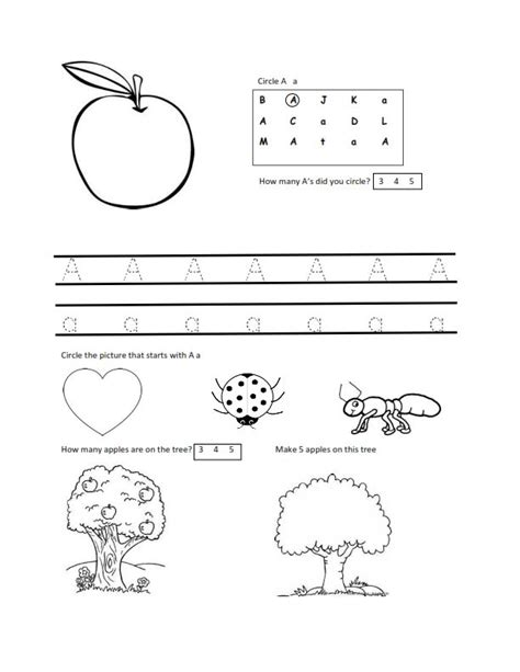 worksheets for 2 year olds free letter a worksheet