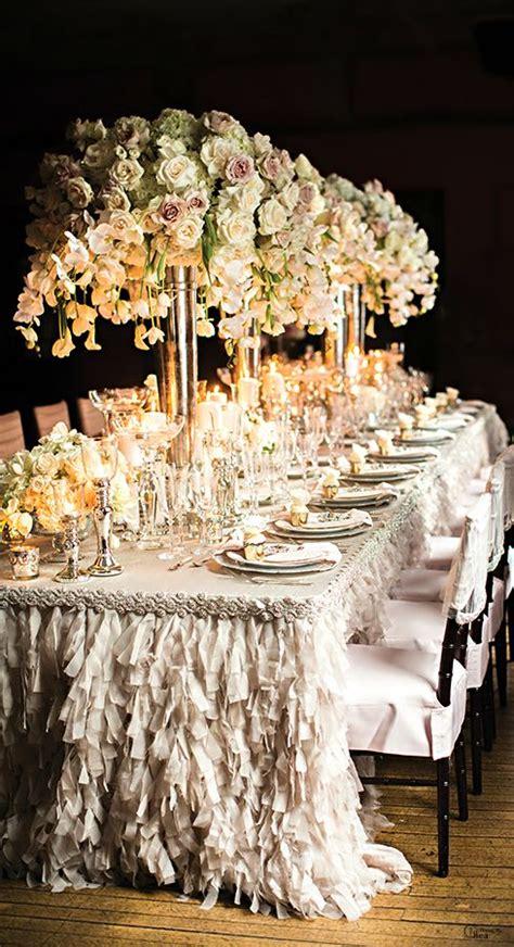 wedding table decor ideas receptions tablecloths