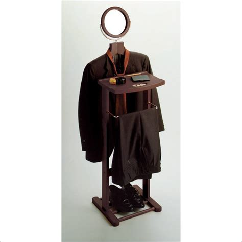 Espresso Mens Suit Valet Stand with Suit Hanger   92055