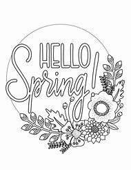 Spring Time Coloring Pages Printables