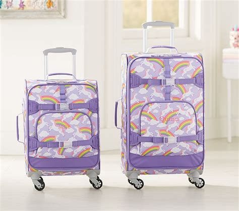 pottery barn suitcase mackenzie summer unicorn spinner luggage pottery barn