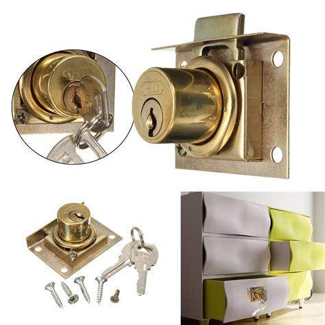 desk drawer lock replacement drawer lock kit with 2 keys cabinet cupboard door home