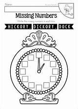 Hickory Dock Dickory Nursery Activities Worksheets Rhyme Preschool Rhymes Missing Clock Teacherspayteachers Rhyming Numbers Kindergarten Coloring Theme Craft Math Projects sketch template