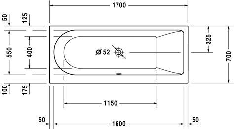 Maße Badewanne Standard by New Badewanne 700241 Duravit