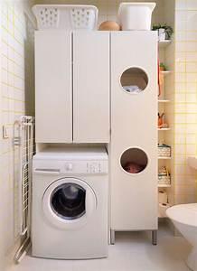 Ikea LILLÅNGEN Laundry cabinet, white | Laundry ...