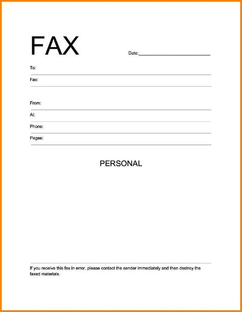 Free Fax Cover Letter Templates For A Resume by 7 Blank Fax Cover Sheet Template Word Cashier Resumes