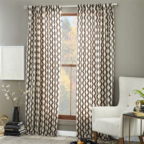 Geometric Pattern Window Curtains by New For The Rhombi Flocked Curtain We Applied