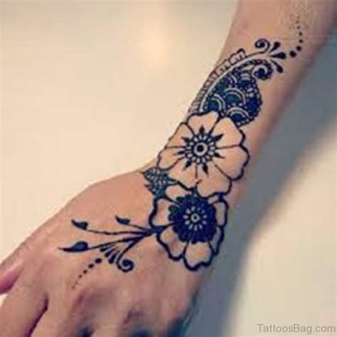 cute flower tattoos  hand