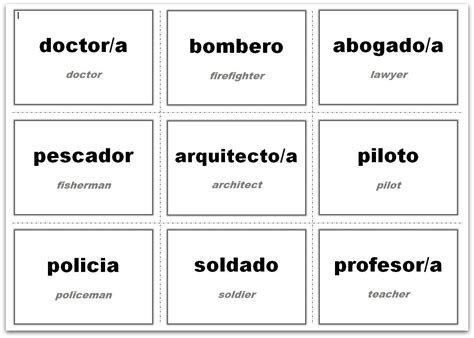 vocabulary flash cards  ms word