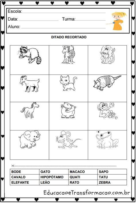 atividades educativas ditado recortado pr 233 sil 225 bico imprimir em pdf