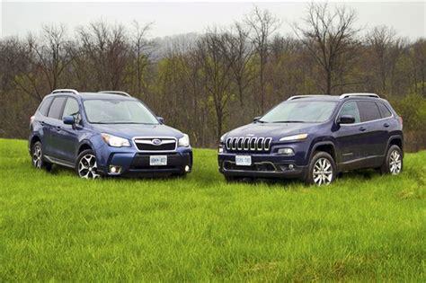Comparison Test 2014 Jeep Cherokee Limited Vs 2014 Subaru