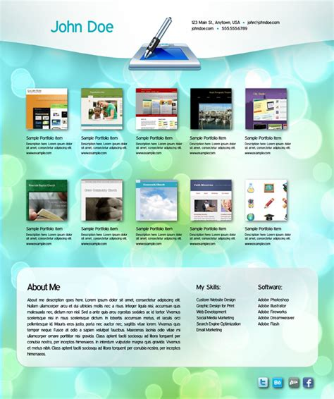 portfolio template pdf 25 effective design portfolio websites vandelay design