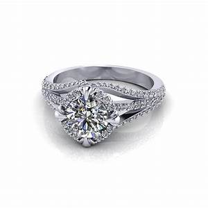 Unique halo engagement ring jewelry designs for Wedding ring unique
