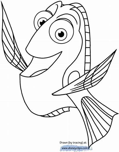 Dory Nemo Finding Coloring Pages Printable Disney