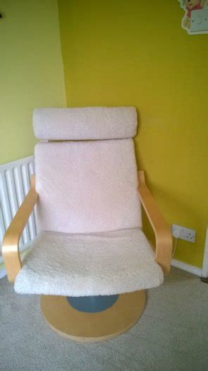 ikea poang swivel sheepskin chair for sale in clonsilla