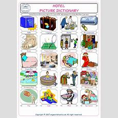 Hotel Picture Dictionary Word To Learn Esl Worksheets For Kids And New Learners
