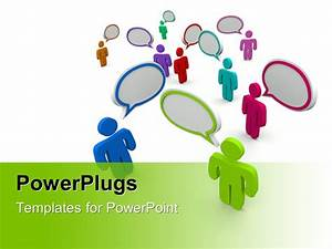 Powerpoint Template  Figures In Various Colors With
