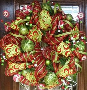 Deco mesh Christmas wreath christmas xmas ideas Juxtapost
