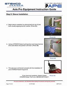 Axle Pro Equipment Instruction Guide  Step 9  Sleeve