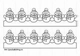 Chain Snowman Printable Chainmail Coloring Template Crafts Templates sketch template