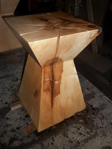 egyptian cut modern maple log tables stools  texpenn