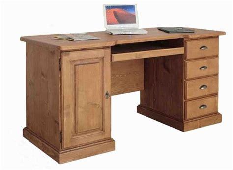 bureau en pin brut acheter bureau informatique pin massif