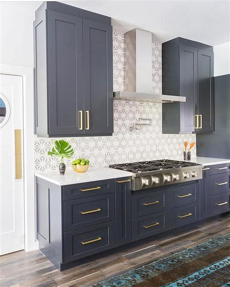 white and navy kitchen cabinets navy blue cabinets textiles kitchen kitchen