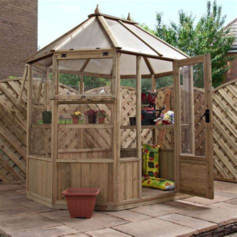Waltons Nursery by 8 X 6 Waltons Octagonal Wooden Greenhouse