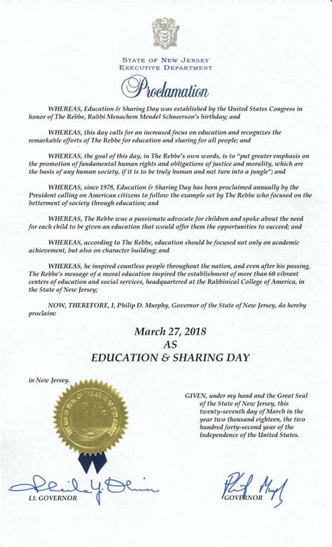 education day  proclamations    states